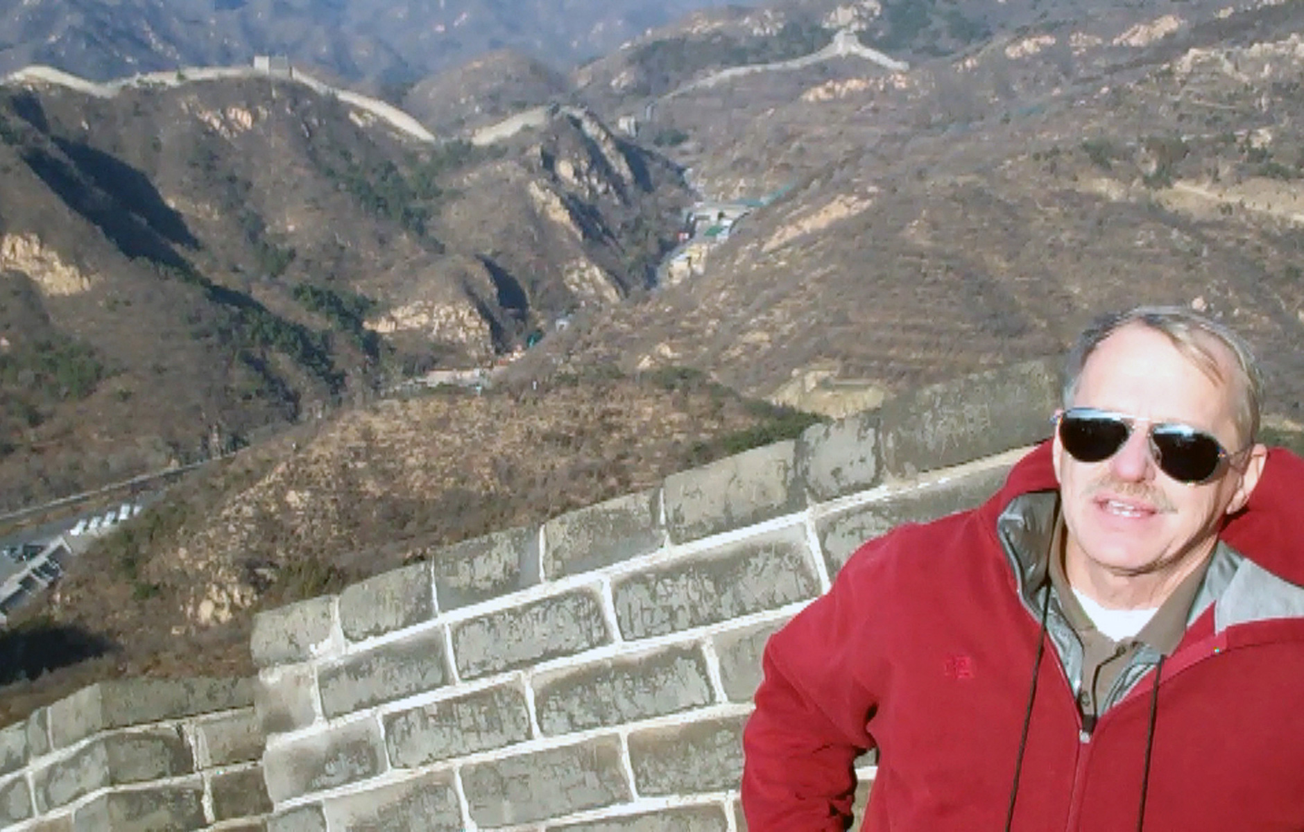 John Emery at Great Wall of China