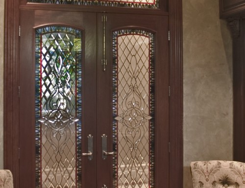 Library doors for Love Residence